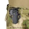 New.Tactical airsoft hunting rifle Movable Holsters Glock gun holster CL7-0057 ใส่ปืน Glock ได้ทุกรุ่น พร้อมติดไฟฉายได้ สีดำ สีทราย ราคาพิเศษ