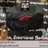 กระเป๋าคาดเอว สีดำ โลโก้แดง (มีถุงคลุมกันน้ำ)