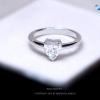แหวนเงินแท้ เพชรสังเคราะห์ ชุบทองคำขาว รุ่น RG1424 Sweet Heart