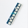 NeoPixel Bar 8 WS2812 RGB LED blue PCB