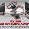(WA M4) Troy OEM M4 QD-Sling Adapter End Plate (BK/TAN)