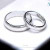แหวนคู่รักเงินแท้ ชุบทองคำขาว รุ่น LV14051406 Plain B&G