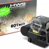L-3 EOTech HWS EXPS3 Style Holographic Red Green Reflex T-Dot Sight with QD Mount & Case Side But (BK)