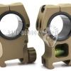 New.American Rifle M10 QD Tactical Mount Ring High Profile With Spirit Level (30mm/25mm,สีดำ สีทราย) ราคาพอเศษ