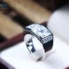 แหวนเงินแท้ เพชรสังเคราะห์ ชุบทองคำขาว รุ่น RG1575 Pharoah