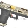 Glock17 T3 Gen4 สไลด์เงิน ท่อทอง เฟรมดำ WE