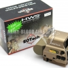 L-3 EOTech HWS EXPS3 Style Holographic Red Green Reflex T-Dot Sight with QD Mount Side Button(TAN)