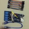 ควบคุมไฟฟ้าผ่านเน็ตโดยใช้ LAN สินค้าประกอบด้วย Arduino Uno R3 (Ch340G) +ควบคุมไฟฟ้าผ่านเน็ตโดยใช้ LAN + สายจั้ม + สาย USB + RELAY 4 OUT (250 V 10A)
