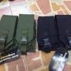 New.ซองใส่แม็ก M4 / M16 คู่ ผ้า CORDURA สีดำ สีทราย สีเขียว ราคา 750 บาท
