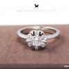 แหวนเงินแท้ เพชรสังเคราะห์ ชุบทองคำขาว รุ่น RG1574 0.50 carat crown