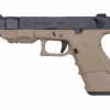 Glock26C Advance Gen3 WE ทูโทน สีทราย สไลด์ดำ (Full Auto)