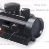 Tactical Hunting Holographic 1 x 40mm Airsoft Red Green Dot Sight Cross Rifle Scope 11-20mm Weaver Rail Mount HT5-0003