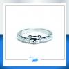 แหวนเงินแท้ เพชรสังเคราะห์ ชุบทองคำขาว รุ่น RG1533 Mini Bear