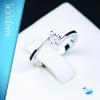 แหวนเงินแท้ เพชรสังเคราะห์ ชุบทองคำขาว รุ่น RG1465 Dot Dazzling