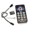 Infrared wireless remote control kit black