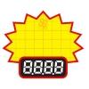 0608 S ป้ายระเบิด ราคา Size S (บรรจุ 10 แผ่น ต่อ 1 ห่อ)