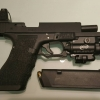 New.ปืนสั้น Glock17 T Storm airsoft arsenal G17 GBB Special Ver สีดำ. มาร์กิ้งสมบูรณ์แบบ ราคาพิเศษ New.Red Dot DOCTER Sight C + ขาจับ Glock (ปรับแสง Aoto) สีดำ สีทราย สีเทา สีส้ม ราคาพิเศษ