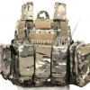 MAR Tactical CIRAS Armor Vest USMC Force Recon HEAVY DUTY Tactical Molle Combat Strike Plate Carrier Vest (Multicam)