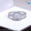 แหวนเงินแท้ เพชรสังเคราะห์ ชุบทองคำขาว รุ่น RG1513 Four Leaf Clover