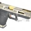 Glock35 T3 Gen4 สไลด์เงิน ท่อทอง เฟรมดำ WE