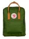 กระเป๋าเป้ Fjallraven Kanken Classic สี leaf green & burnt orange เขียวสายสะพายส้ม พร้อมส่ง