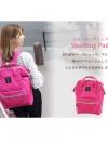 กระเป๋า Anello ขนาด standard สี ชมพูสด Shocking Pink ของแท้ นำเข้าจากญี่ปุ่น พร้อมส่ง