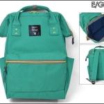 กระเป๋า Anello ขนาดปกติ Standard สีเขียวมรกต Emeral green ของแท้ นำเข้าจากญี่ปุ่น พร้อมส่ง