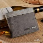 กระเป๋าสตางค์ผู้ชาย ทรงสั้น รุ่น YATEER JR1 - สีเทา