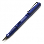 Lamy Safari (Old Color) Blue with Black Clip Fountain Pen