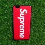 TPU ลายเส้นนูน superme สีแดง iphone6 plus/6s plus