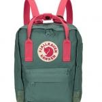กระเป๋า Fjallraven Kanken Mini สี Frost green& peachpink สีเขียวสายสะพายชมพู พร้อมส่ง