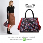 BG_2768, กระเป๋าแฟชั่นผู้หญิง Black & Red , Handbag , Jan , 2016 , Chic Bag , ~1000-1999