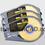 สติ๊กเกอร์ Label 9mm.Yellow เครื่องพิมพ์ CANON รุ่น MK1100 MK2100 MK1500 MK2500 M-1std M-1Proii