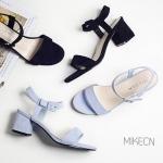 SH_1331 (pre-order) รองเท้าส้นสูงเปิดหัว-รัดข้อ, June, 2016, Shoes, Black-Blue, Size 34-39, ~1000-1999