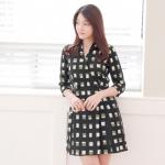 DR_8388, ชุดเดรส-ชุดทำงานเกาหลี , Working Dress, March, 2016,Black, S-M-L , ~1000-1999