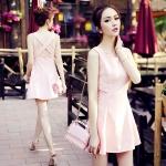 DR_8007, ชุดเดรส Closet Sweety Pink, July, 2015, Dress, Pink, S-M, ~1000-1999
