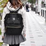 กระเป๋า Anello ขนาดปกติ Standard สีดำ Black ของแท้ นำเข้าจากญี่ปุ่น พร้อมส่ง