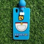 TPU ลายเส้นนูนกระดิ่งแมวสีฟ้าเกาะหลัง Oppo Mirror5