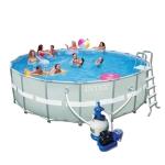 สระว่ายน้ำสำเร็จรูป Intex Ultra Frame แบบกลม 18 ฟุต สูง 132 ซม. + อุปกรณ์ครบชุด + ส่งฟรี