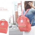 กระเป๋า Anello ขนาด mini สี Coral Pink ของแท้ นำเข้าจากญี่ปุ่น พร้อมส่ง