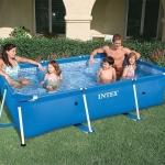 สระว่ายน้ำสำเร็จรูป Intex Metal Frame แบบเหลี่ยม 9 ฟุต + อุปกรณ์ครบชุด + ส่งฟรี