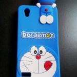 ซิลิโคนลายแมวสีฟ้าเกาะหลัง Oppo Mirror5