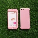 PC ประกบ360องศา+ฟิล์มกระจกสีชมพู iphone6/6s
