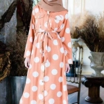 Fun Polkadot Muslimah Shirt dress