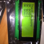 LCD Character Display 20x4 (Green) with I2C Serial interface Board