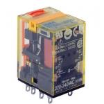 RELAY IDEC รีเลย์ 4 contact มีไฟ LED +Manual ได้ RU4S-D24V