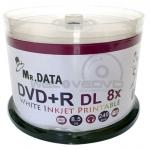Mr DATA DVD+R DL 8X Printable (50 pcs/Cake Box)