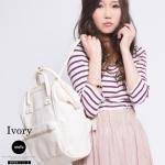 กระเป๋า Anello แบบหนัง PU ขนาดเล็ก mini สี ขาว ivory ของแท้ นำเข้าจากญี่ปุ่น พร้อมส่ง