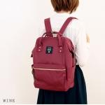 กระเป๋า Anello ขนาดปกติ Standard สีแดง Wine ของแท้ นำเข้าจากญี่ปุ่น พร้อมส่ง