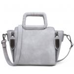 BG_2930 (pre-order) กระเป๋าถือประดับซิบข้าง, Aug, 2016, Bag, Grey, ~1000-1999